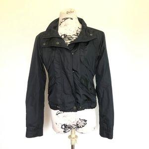 Athleta Black Short Jacket Lined Jacket